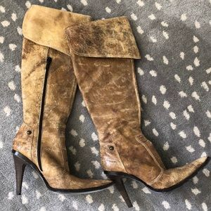 Antik Denim Shoes - BOHO HIPPIE BOHEMIAN DISTRESSED LEATHER BOOTS